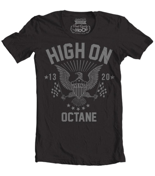 Men's HoO High on Octane Live Fast American Racing Eagle T-Shirt