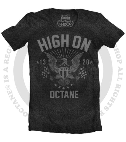 Women's HoO High on Octane Live Fast American Racing Eagle T-Shirt