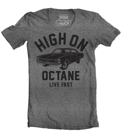 Women's HoO High on Octane GTO Big Block Muscle Car Gym Workout T-Shirt