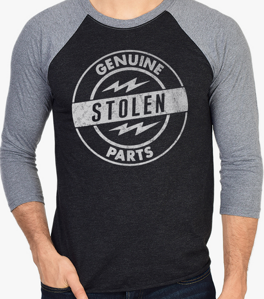 Men's HoO High on Octane Genuine Stolen Parts Vintage Racing Raglan