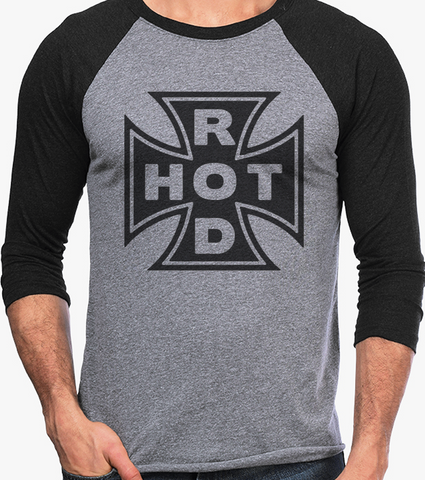 Men's HoO High on Octane Hot Rod Vintage Racing Raglan