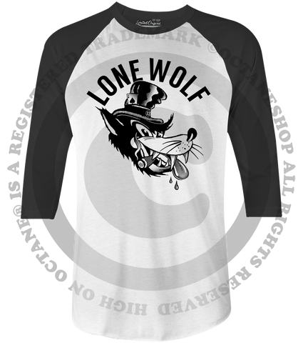 Men's HoO High on Octane Lone Wolf Old School Raglan