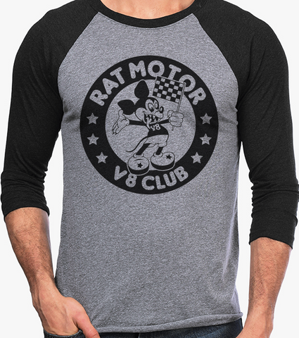 Men's HoO High on Octane Rat Motor Vintage Racing Raglan