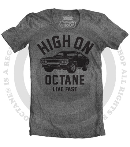 Women's HoO High on Octane Road Runner Big Block Muscle Car Gym Workout T-Shirt