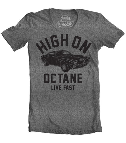 Men's HoO High on Octane Trans Am Big Block Muscle Car Gym Workout T-Shirt