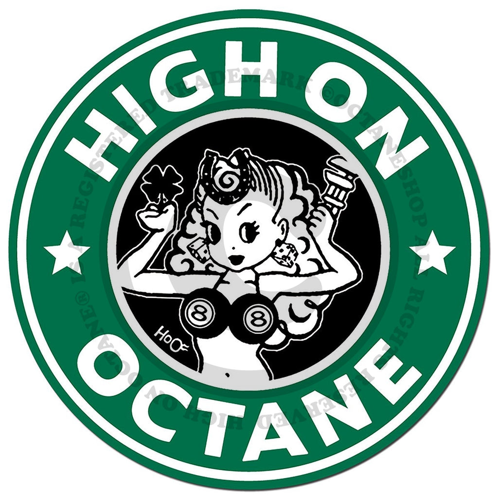 HoO High on Octane Lady Luck Window Cling