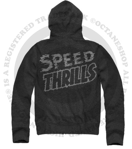 Men's HoO High on Octane Speed Thrills Racing Zip Up Lightweight Hoody