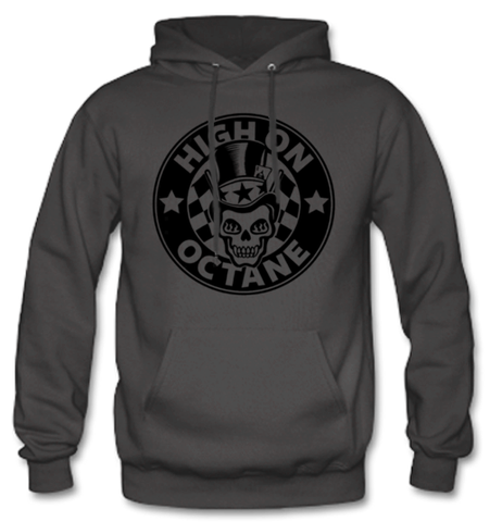 Men's High on Octane® Top Hat Skull© Pull Over Hoody