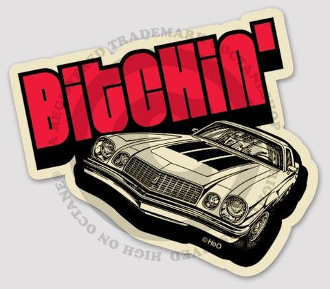HoO High on Octane Bitchin' Sticker