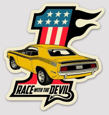 Race With The Devil #1 Cuda Racing Sticker
