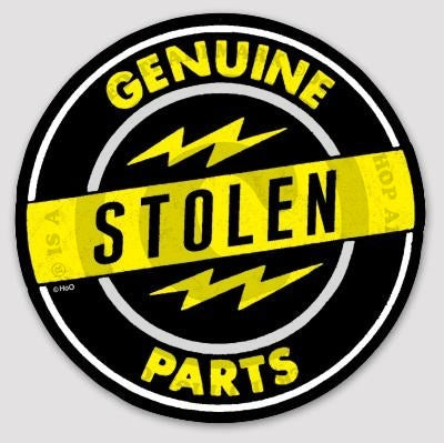 High on Octane Genuine Stolen Parts Sticker