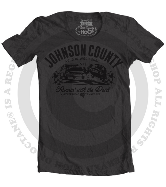 Women's HoO High on Octane Johnson County Run with the Devil T-Shirt (Color Options)