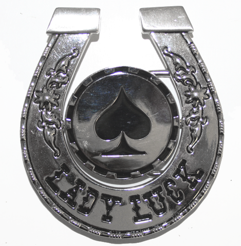 Lady Luck Flip Belt Buckle