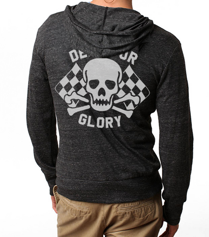 Men's/Unisex HoO Death or Glory Racing Zip Up Lightweight Summer Beach Hoody