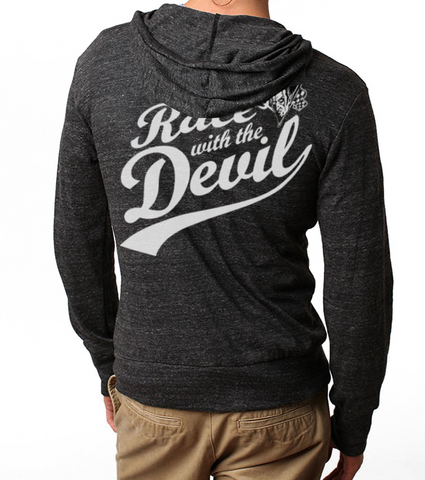 Men's/Unisex HoO Race With The Devil Zip Up Lightweight Summer Beach Hoody
