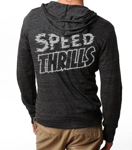 Men's/Unisex HoO Speed Thrills Racing Zip Up Lightweight Summer Beach Hoody