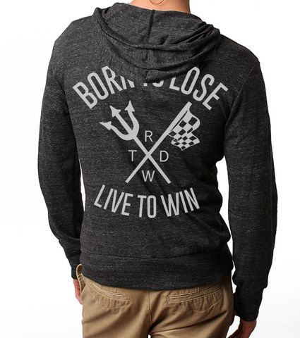 Men's/Unisex HoO Born to Lose Race With The Devil Zip Up Lightweight Summer Beach Hoody