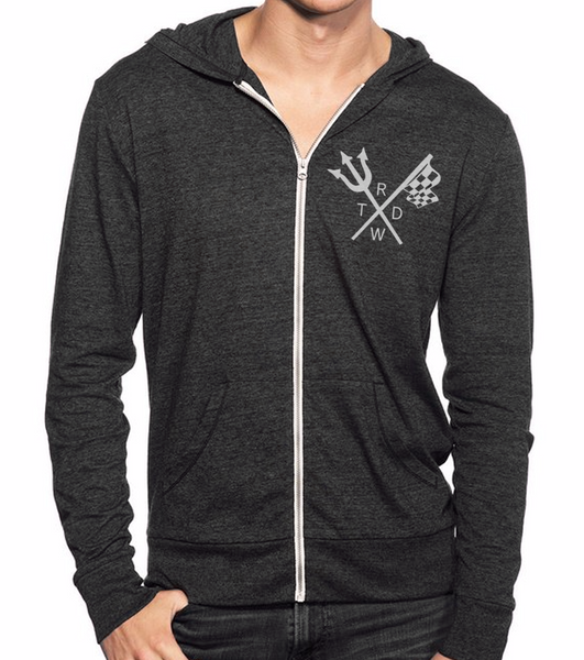 Men's/Unisex  Born to Lose Race With The Devil® Zip Up Lightweight Hoody
