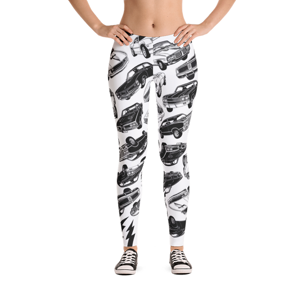 Muscle Car Mania Leggings