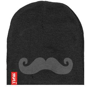 Moustache SKVLL Beanie Black Hat
