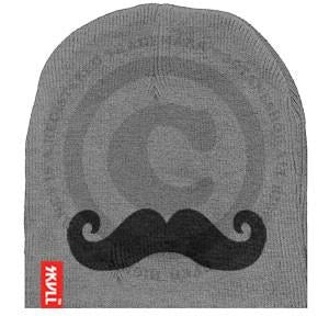 Moustache SKVLL Beanie Grey Hat