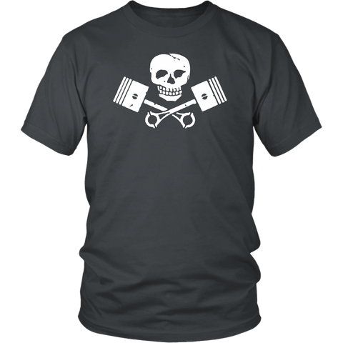 Unisex High on Octane® Skull and Pistons T-Shirt