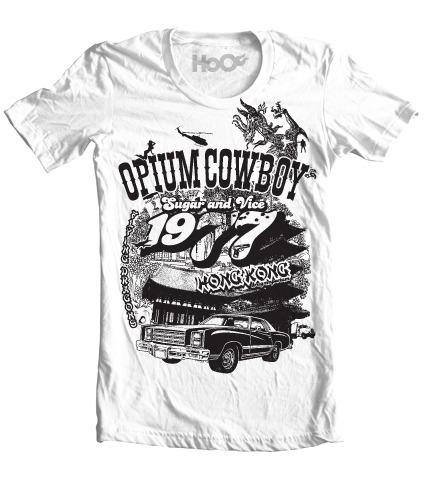 Men's HoO High on Octane Opium Cowboy Graphic T-Shirt