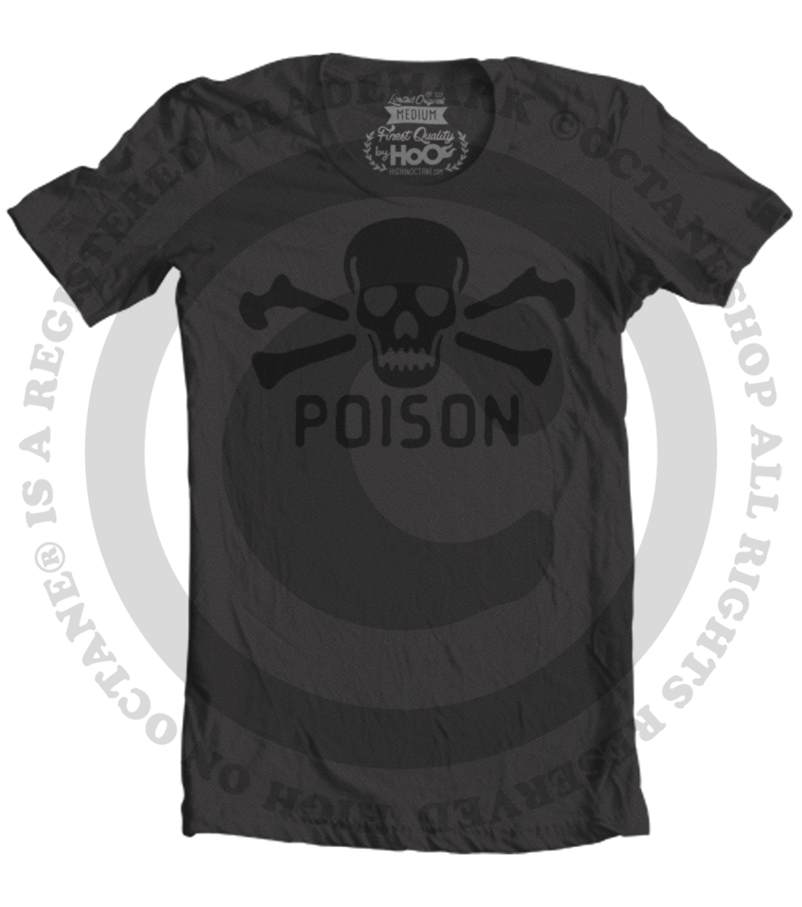 Men's HoO High on Octane Vintage Poison T-Shirt (Black)