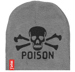 Poison SKVLL Beanie Grey Hat