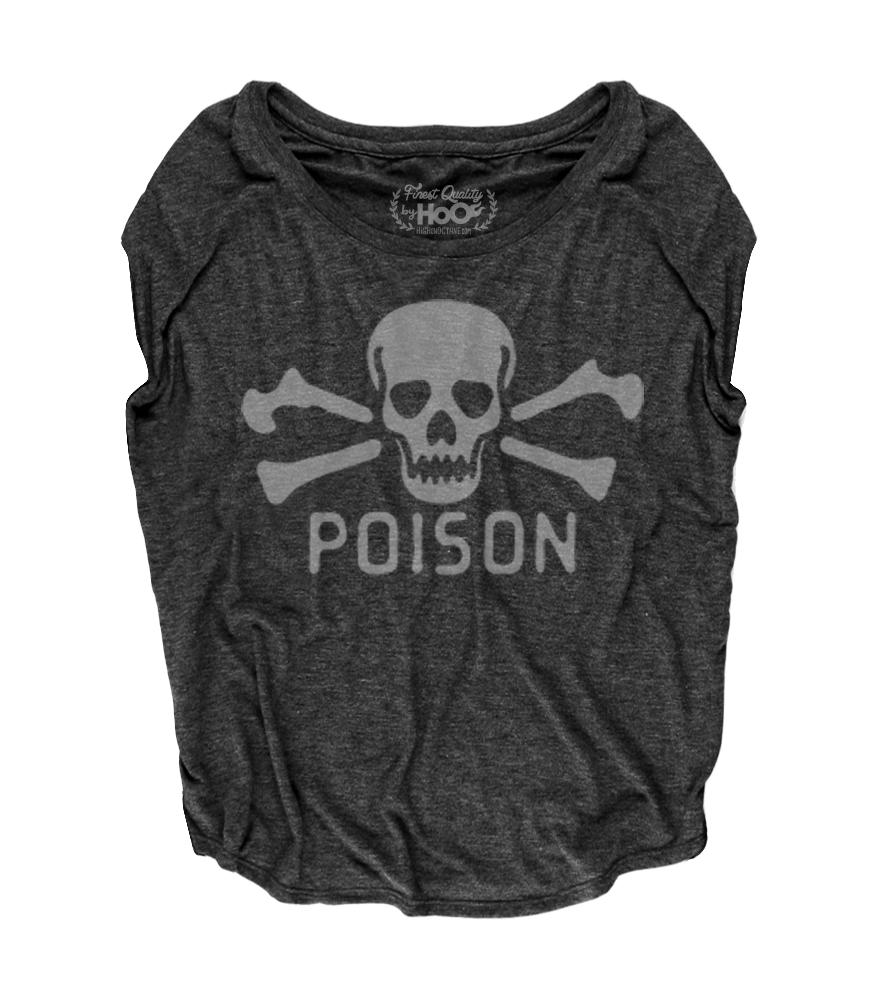 Women's HoO High on Octane Poison Loose Fit Short Sleeve Top