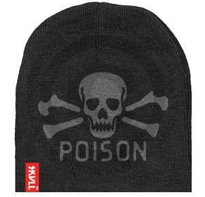 Poison SKVLL Beanie Black Hat