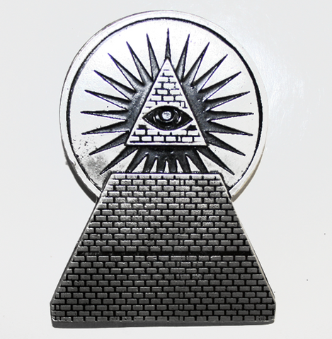 New World Order Pyramid Eye Belt Buckle