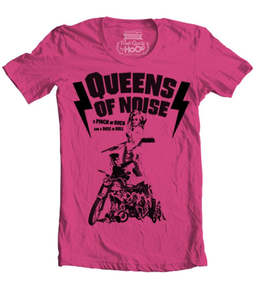 Women's HoO High on Octane Queens of Noise Rock n Roll T-Shirt