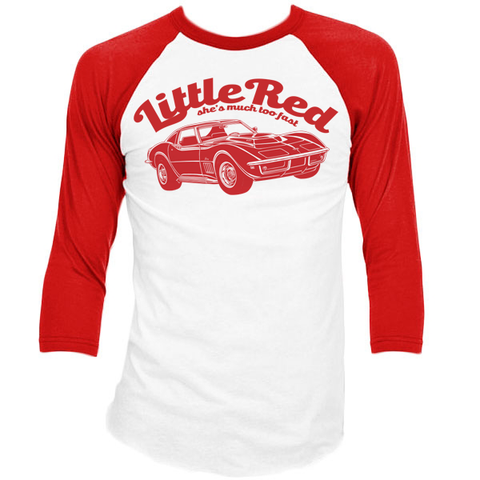 Women's HoO High on Octane Little Red Corvette Retro Raglan