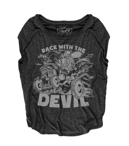 "Women's Race With The Devil ""Devil Rat Bastard"" Loose Fit Short Sleeve Top"