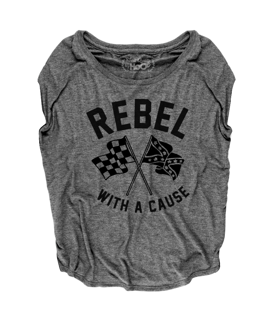 Women's HoO High on Octane Rebel With A Cause Short Sleeve Loose Fit Top