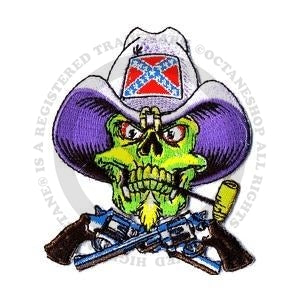 Rebel Skull Patch