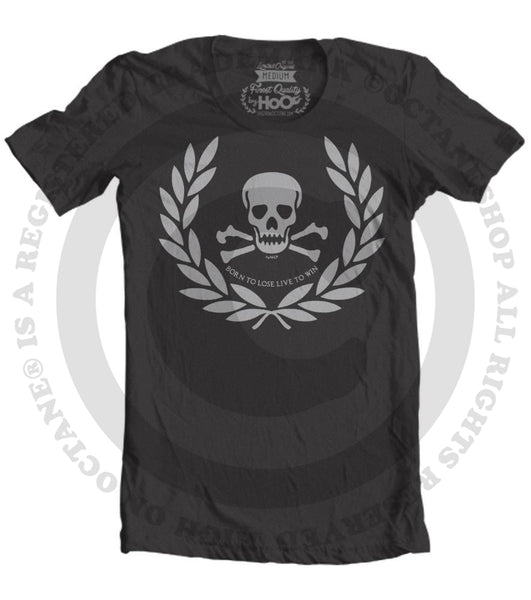 Men's HoO High on Octane Roman Skull Workout T-Shirt (Color Options)