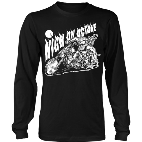 Unisex High on Octane® Wolfie Chopper Long Sleeve Shirt