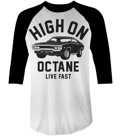 Men's High on Octane® Big Block Road Runner Muscle Car© Raglan