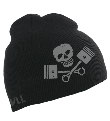 Original Skull Beanie® Skull and Pistons Knit Beanie SKVLL™ Hat