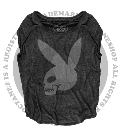 Women's High on Octane® Skull Bunny© Loose Fit Short Sleeve Top