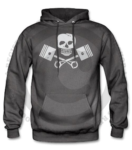 Men's HoO High on Octane Vintage Skull and Pistons Pull Over Hoody (Color Options)