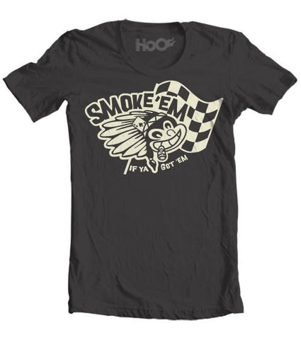 Men's HoO High on Octane Smoke 'em If Ya Got 'em Rebel Indian T-Shirt (Color Options)
