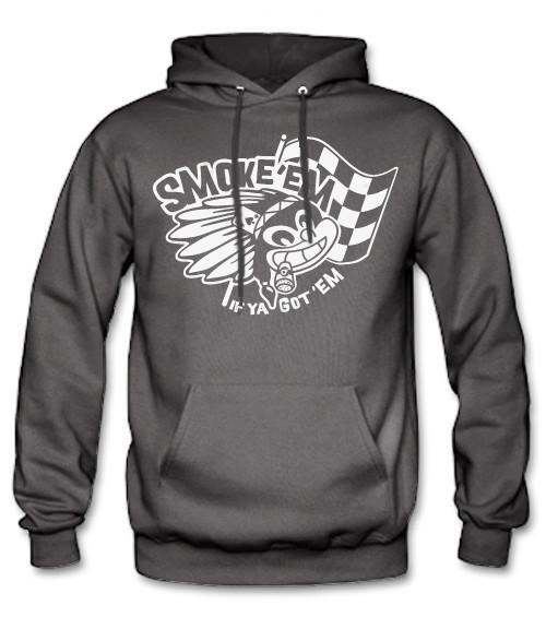 Men's HoO High on Octane Smoke 'Em Rebel Indian Pull Over Hoody