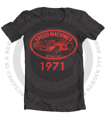 Kid's Speed Machine Cuda Muscle Car Vintage Heather T-Shirt