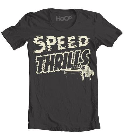 Women's HoO High on Octane Speed Thrills Racing Graphic T-Shirt (Color Options)