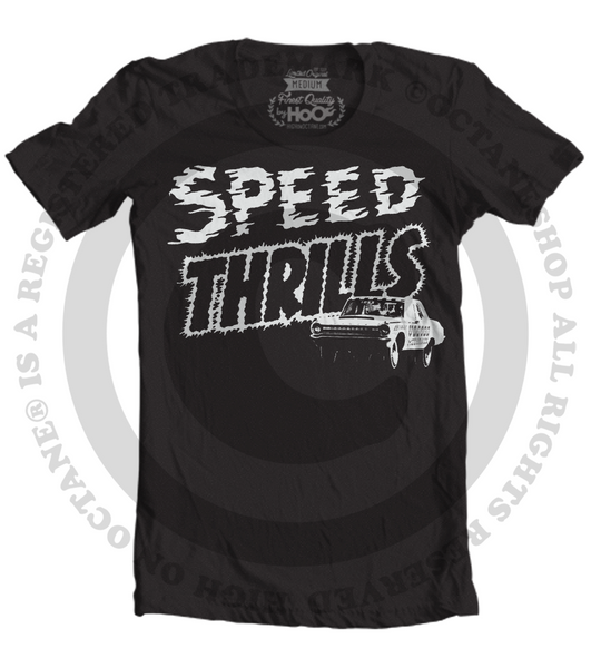Men's HoO High on Octane Speed Thrills Racing Graphic T-Shirt (Color Options)