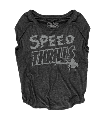 Women's HoO High on Octane Speed Thrills Racing Loose Fit Short Sleeve Top