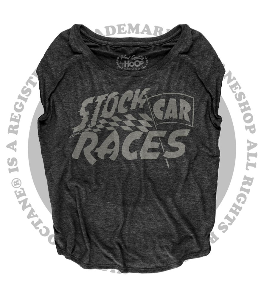 Women's HoO High on Octane Stock Car Racing Loose Fit Short Sleeve Top